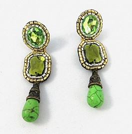 KALEIGH EARRINGS – GREEN