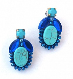 SARAH EARRINGS – TURQUOISE