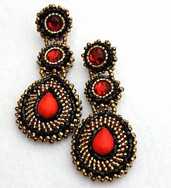 EARRINGS – RED & BLACK