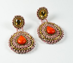 ESPERANZA EARRINGS – RED & PINK