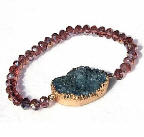 KIMBERLY BRACELET – PURPLE & BLUE