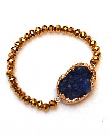 KIMBERLY BRACELET – GOLD & NAVY