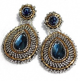 ESPERANZA EARRINGS – BLUE & SILVER