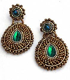 ESPERANZA EARRINGS – GREEN & GOLD