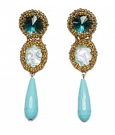 KALEIGH EARRINGS – TURQUOISE