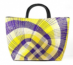 PURPLE & YELLOW LARGE TOTE
