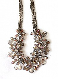 FLORAL NECKLACE – SILVER