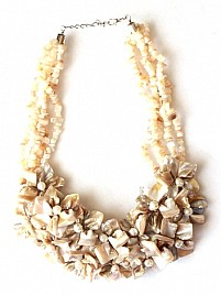 MOTHER OF PEARL NECKLACE – CREAM