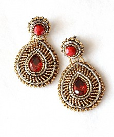 ESPERANZA EARRINGS – RED AND GOLD