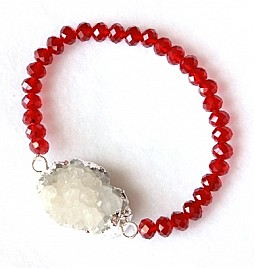 KIMBERLY BRACELET – RED & WHITE