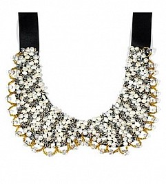 PETER P COLLAR NECKLACE – WHITE