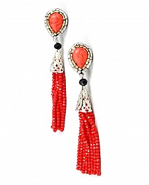 IRIS EARRINGS – RED