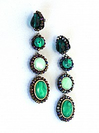 DROP EARRINGS – GREEN
