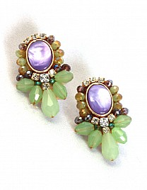 OPAL EARRINGS- PURPLE