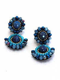 SUNBURST EARRINGS – BLUE