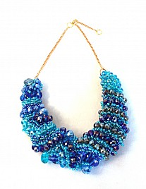 COLLAR NECKLACE – BLUE