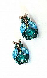 ACRYLIC EARRINGS – BLUE