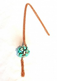 TASSEL NECKLACE – TURQUOISE