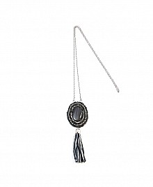 TASSEL NECKLACE- GREY