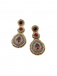 TEARDROP EARRINGS- RED