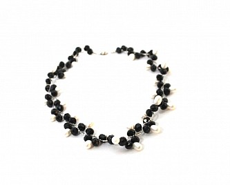 CRYSTAL CHOKER- BLACK