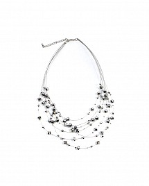 HANGING CRYSTAL NECKLACE- SILVER