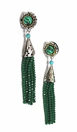 IRIS EARRINGS – GREEN