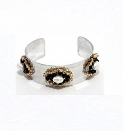 MIA BRACELET – BLACK AND CHAMPAGNE