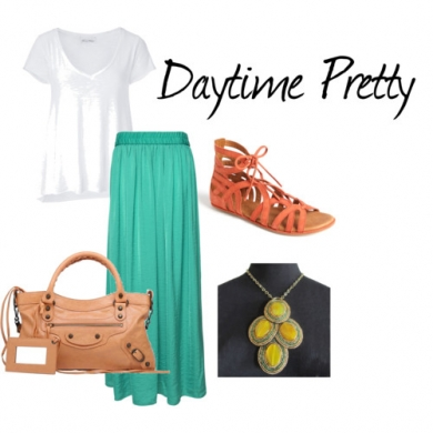 White tee shirt - daytime pretty