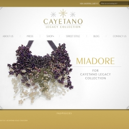 {Special Holiday Collaboration} Miadore for the Cayetano Legacy Collection