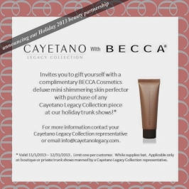 {Partnership}  BECCA Cosmetics and Cayetano Legacy Collection